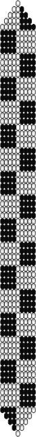 Схема браслета для узора Шахматы